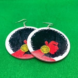 Handcrafted dangling African ethnic earrings